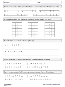 L'ordre alphabétique du CP au CM2 | LaClasse.fr