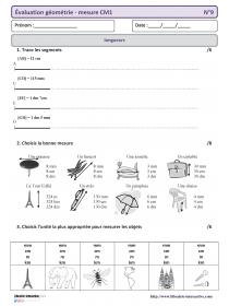 Une Annee D Evaluations En Geometrie Et Mesure En Cm1 Laclasse Fr