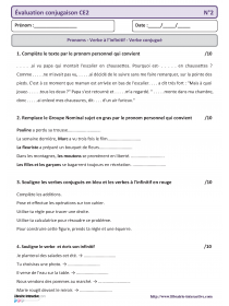 Bilan Ce2 Grammaire Conjugaison Laclasse Fr