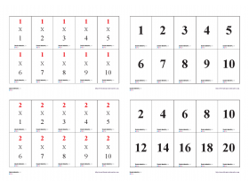Memory des tables de multiplication.