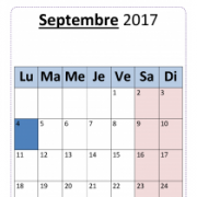 Calendriers 2017 - 2018